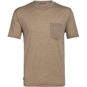 Icebreaker Nature Dye Drayden SS Pocket Crew Top Men, almond